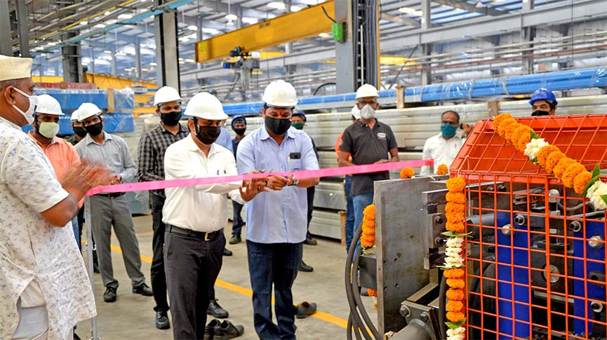 Inauguration of Downspout and Pipe Bending Machines